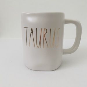 Rae Dunn TAURUS Astrology Ceramic Mug
